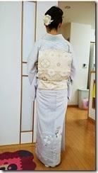 爽やかお色のお着物に (2)
