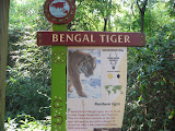 The Bengal tiger sign at the Nashville Zoo 09032011
