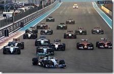 La partenza del gran premio di Abu Dhabi 2014
