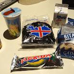 trying out local Icelandic snacks in Reykjavik, Hofuoborgarsvaeoi, Iceland
