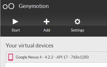 Virtual Device List