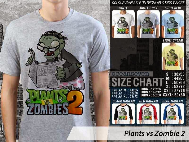 KAOS Plants VS Zombie pvz 2 Game Lucu distro ocean seven
