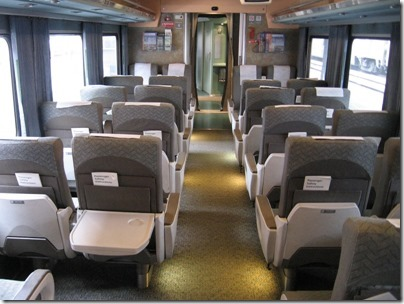 IMG_0703 Amtrak Cascades Talgo Pendular Series VI Coach Class Interior at Union Station in Portland, Oregon on May 10, 2008
