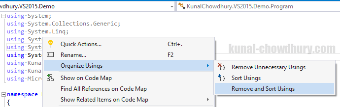 Visual Studio Tips & Tricks - Old ways to organize using namespaces