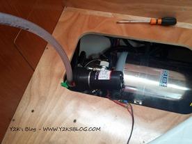 Pompa estrazione acqua scaldabagno