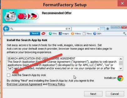format-factory-installazione