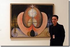 MLG 21/10/2013.-Inauguración de la exposición de la artista Hilma af Klint, Pionera de la Abstracción, en el Museo Picasso.-ÁLEX ZEA.