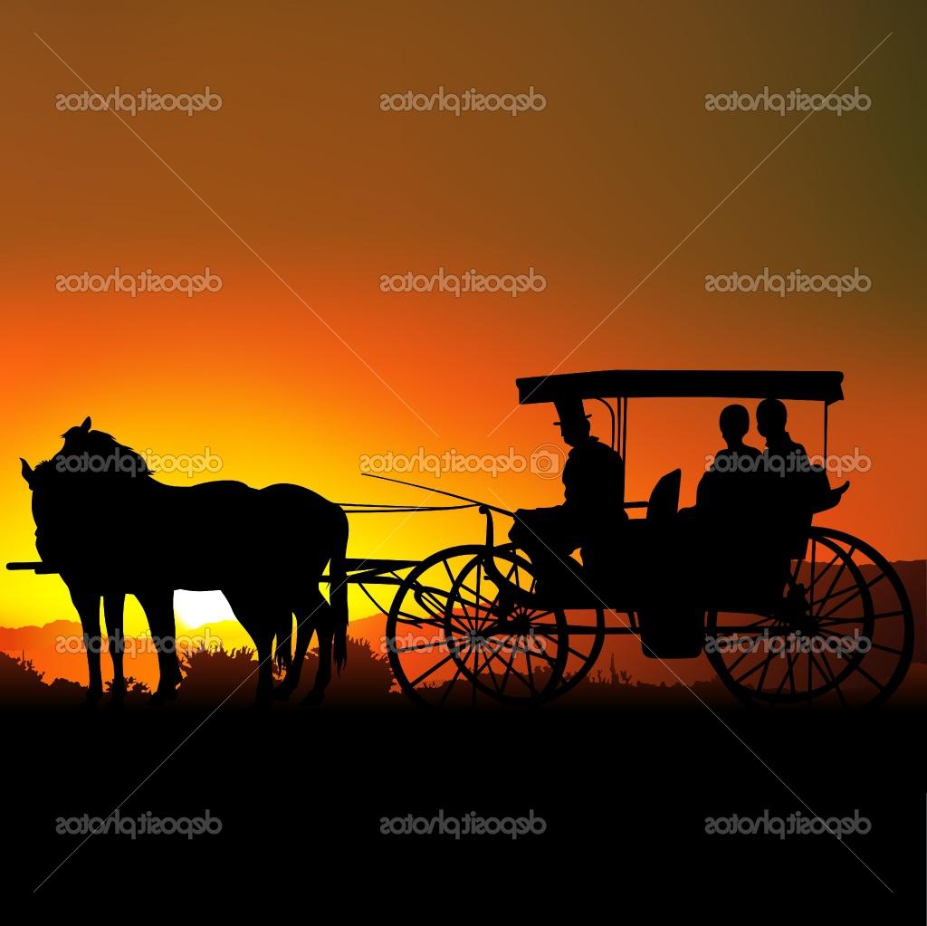 wedding carriage clipart