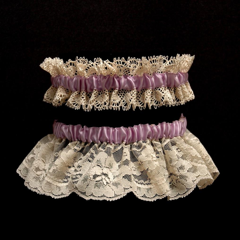 Ivory Lace & Lavender ribbon