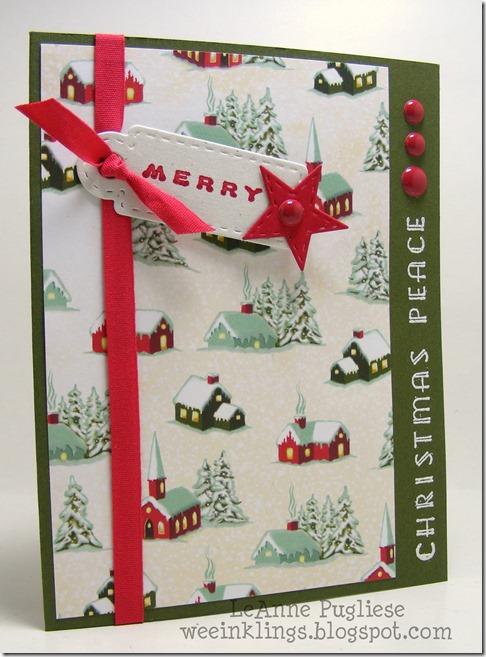 LeAnne Pugliese WeeInklings Vintage Christmas Peace