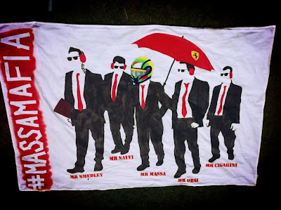 баннер Мафия Массы для Гран-при Бельгии 2013 от болельщицы Фелипе Массы jagolevertF1