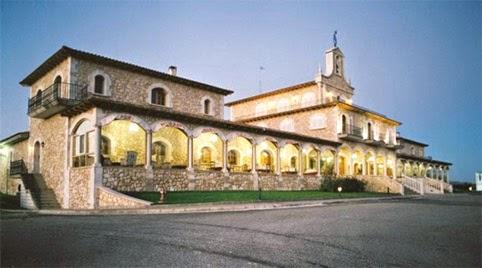 Fachada del edificio de Bodegas Arzuaga, Valladolid