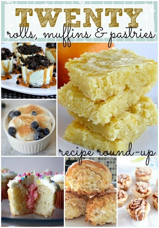 20 rolls, muffins & pastry recipes {link party features from GingerSnapCrafts.com}_thumb[1]