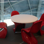 lounge in the atomium in Brussels, Brussels, Belgium