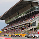 Start of the 2014 Spanish F1 Grand Prix midfield