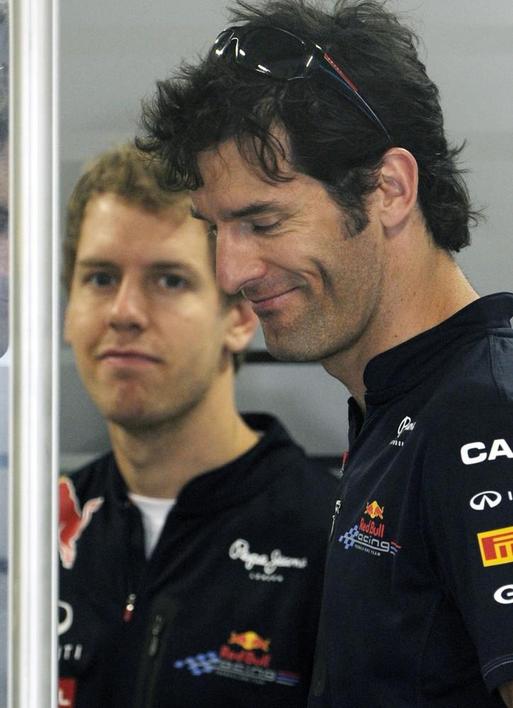 Себастьян Феттель и Марк Уэббер на Гран-при Индии 2011