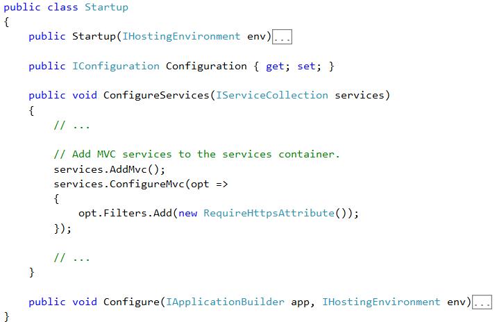 Añadiendo filtros globales en MVC 6
