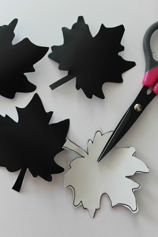 leaf patterns with contact paper