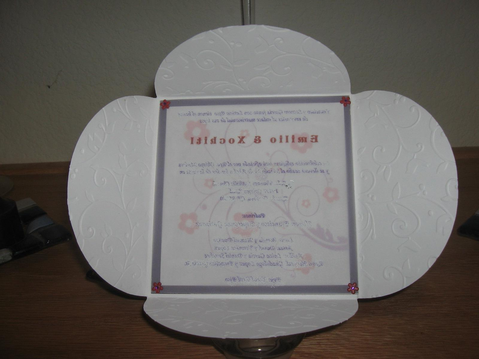 cricut wedding invitation