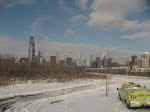 The Chicago skyline seen from the Amtrak window 01142012f