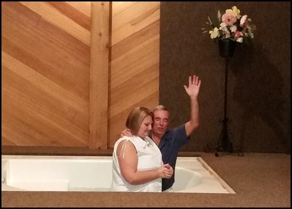 Lisa's baptism