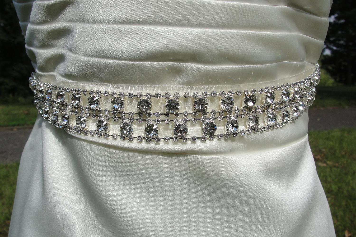 wedding bridal rhinestone trim