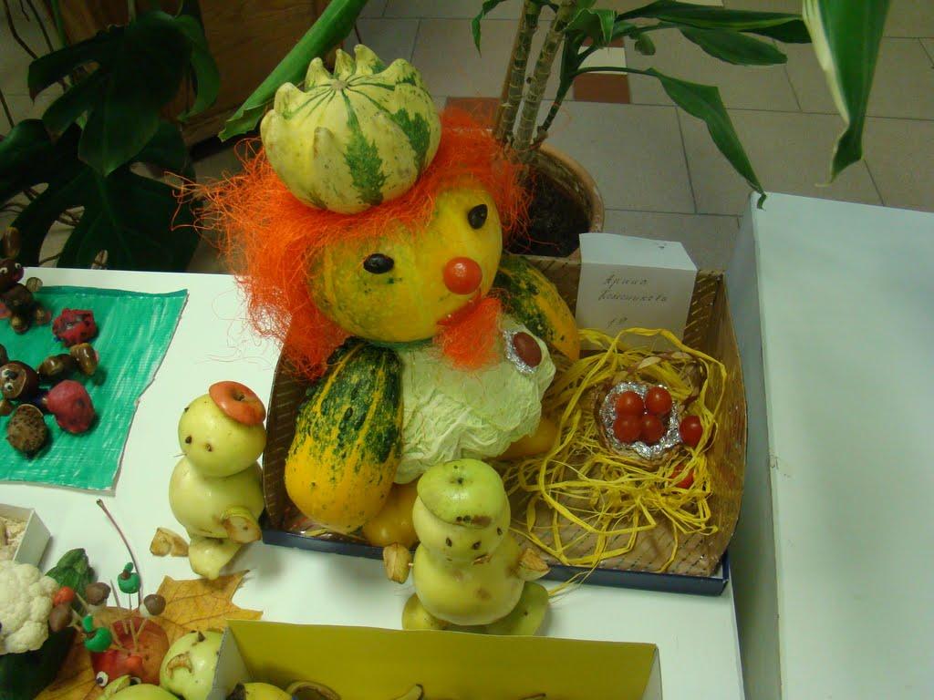 Поделки из овощей и фруктов в школу фото 96