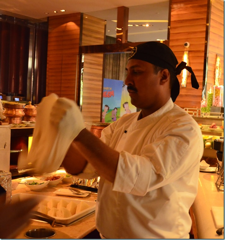 Chef Ansari Ali making the Roomali Roti