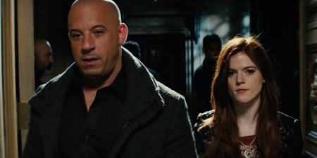 Vin Diesel and Rose Leslie in The Last Witch Hunter