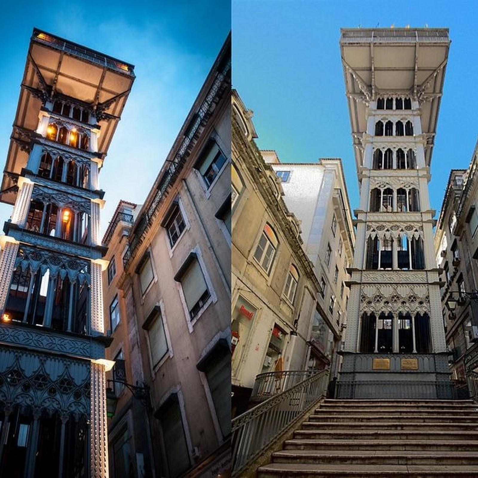 The Santa Justa Elevator in Lisbon
