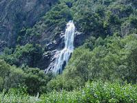 Im Tal der Rhone nach Martigny. Ausschnitt aus dem vorhergehenden Bild.