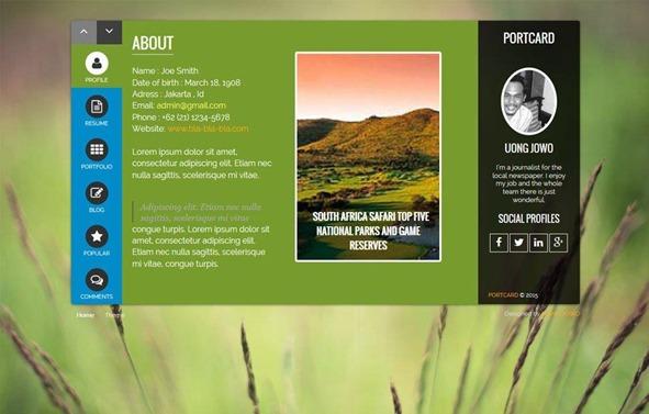 portcard-template