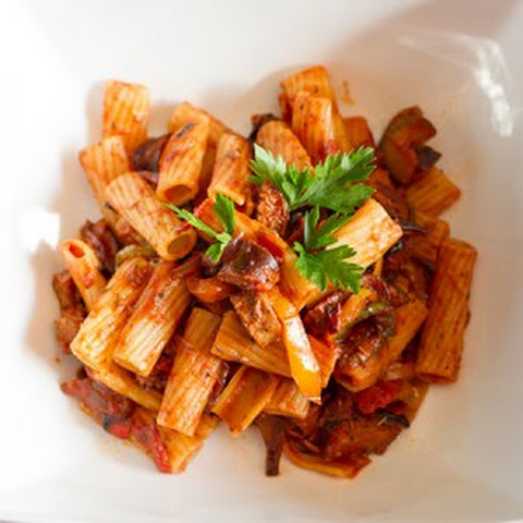Spicy Sausage And Roasted Vegetable Pasta