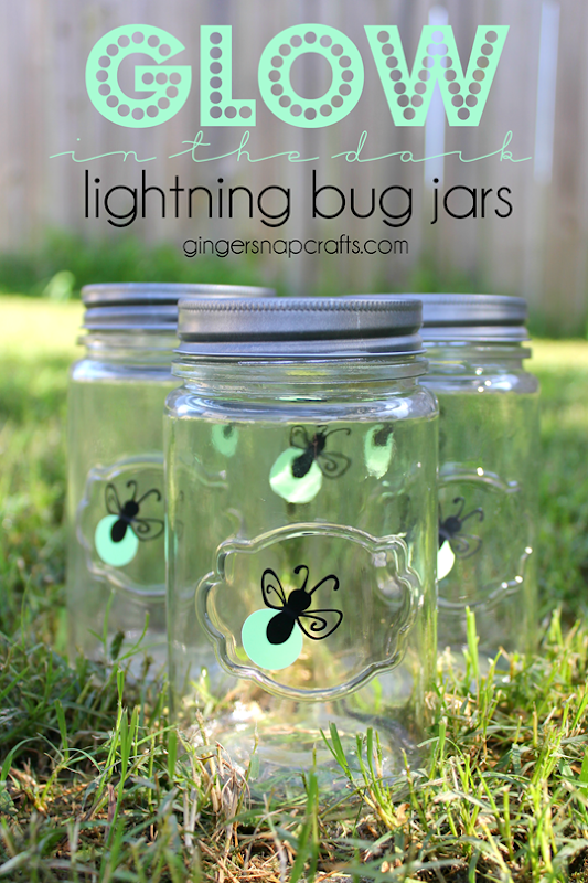 ginger snap crafts glow in the dark lightning bug jars vinyl blog hop