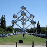 standing in front of the atomium in brussels belgium in Brussels, Brussels, Belgium