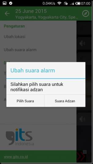 aplikasi android alarm suara adzan dan jadwal sholat