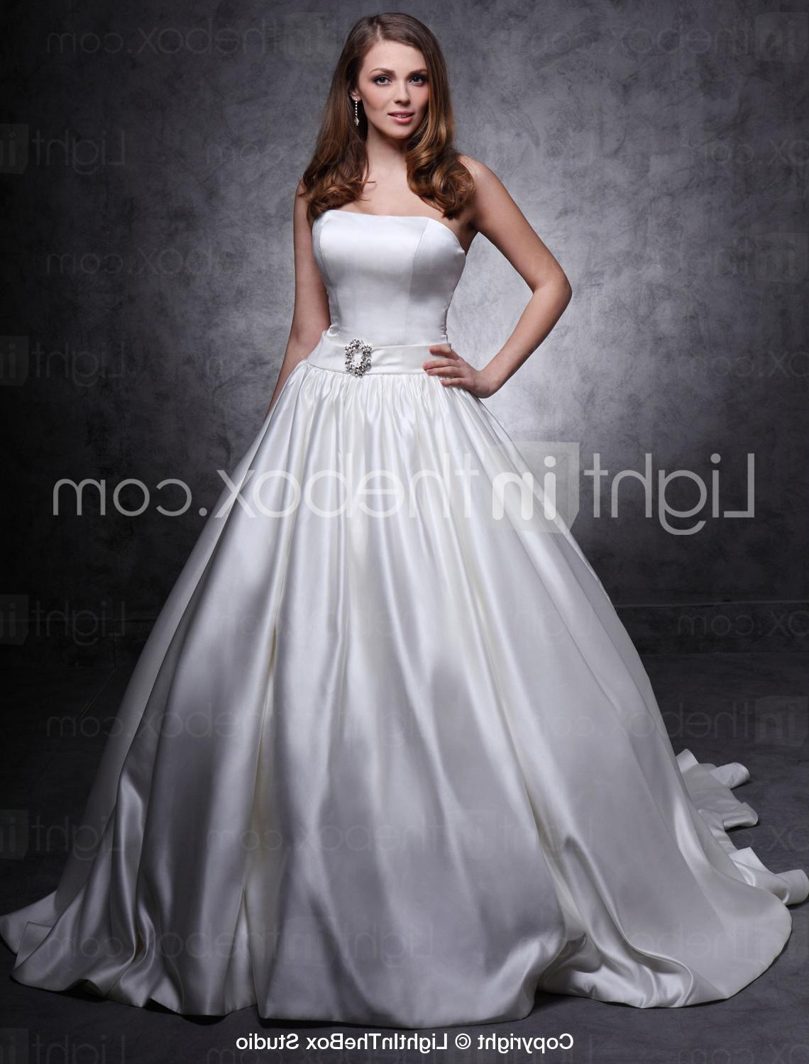 Ball Gown Strapless Chapel