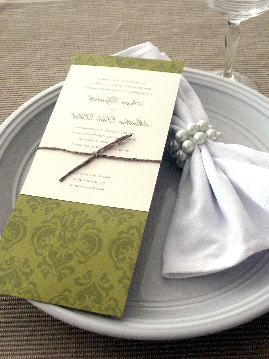 Green Tea Length Wedding