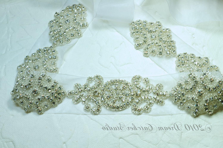 NINA Vintage Looking Swarovski Crystal Wedding Gown Sash - CC010 - Made to