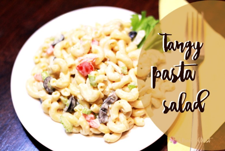 Pasta Salad top view title