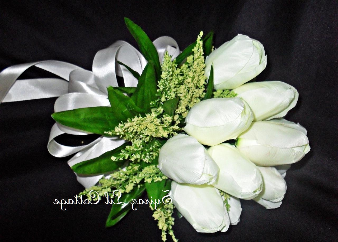 fuschia orange bridal bouquet
