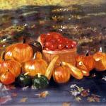Récolte d'automne, pastel sec, 12 x 16 po.
