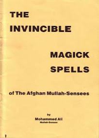Cover of Muhammad Ibn Arabi's Book Invincible Magick Spells Of The Afghan Mullah Sensees