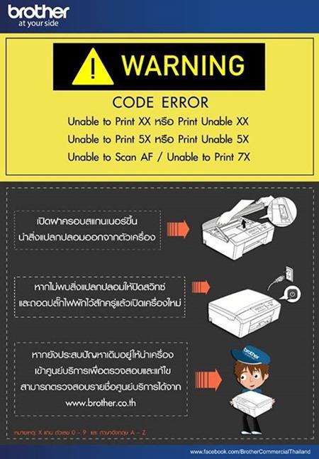 Brother error code