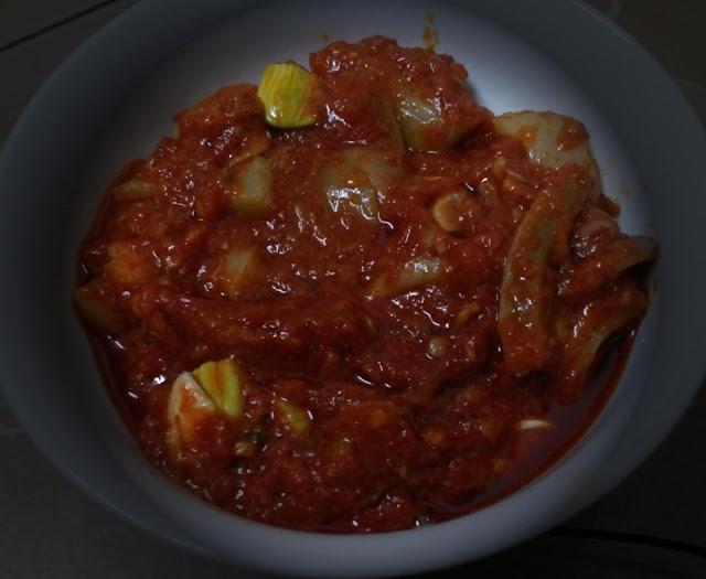 Resepi masakan sambal sotong petai