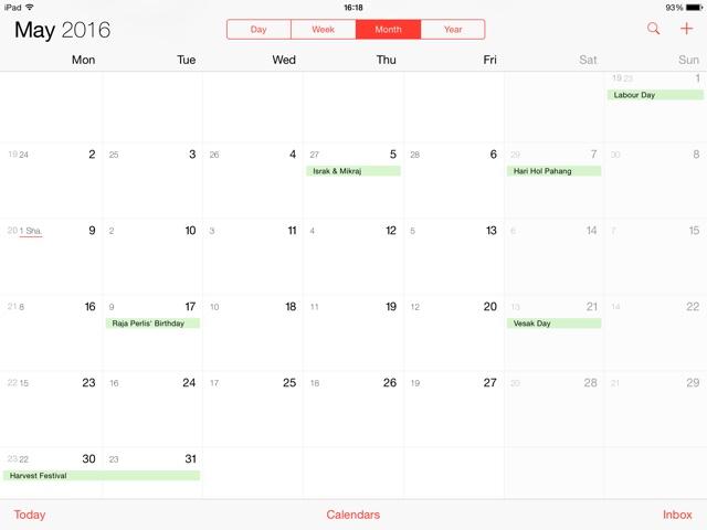 Kalendar cuti umum n cuti am malaysia 2016