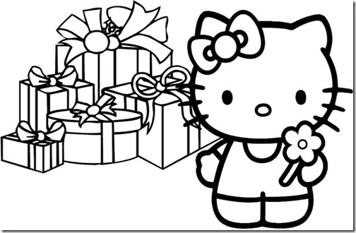 colorear hello kitty navidad (1)