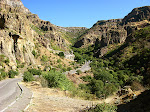 The approach to Geghard Monastery, Armenia.