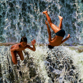 Dive!!..upside down by Baron Danardono Wibowo - Babies & Children Children Candids