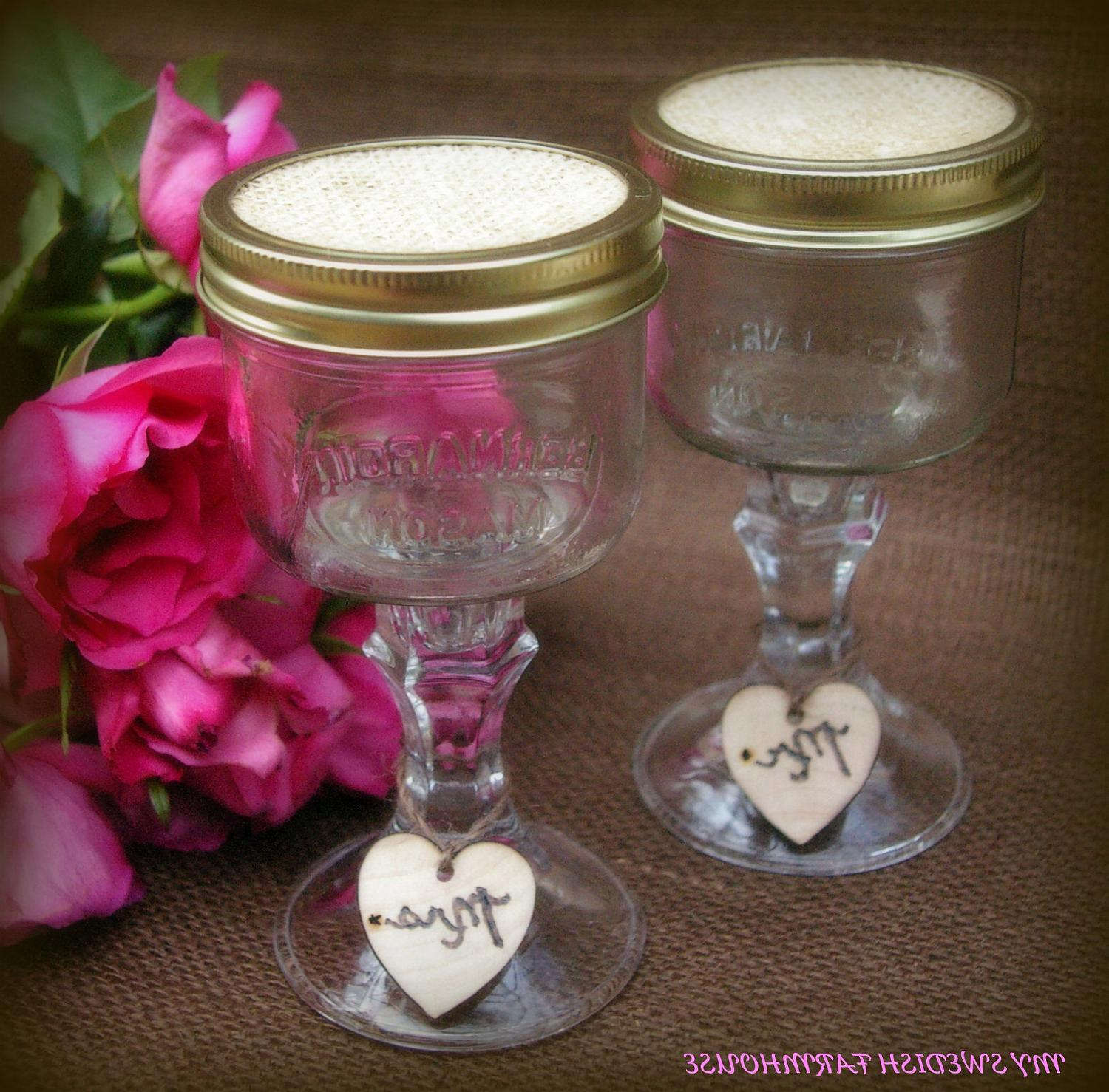 Mason Jar Wine Glasses with